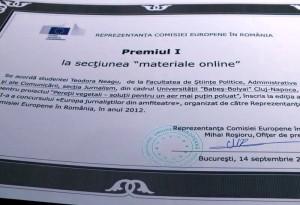 Premiul I reportaj