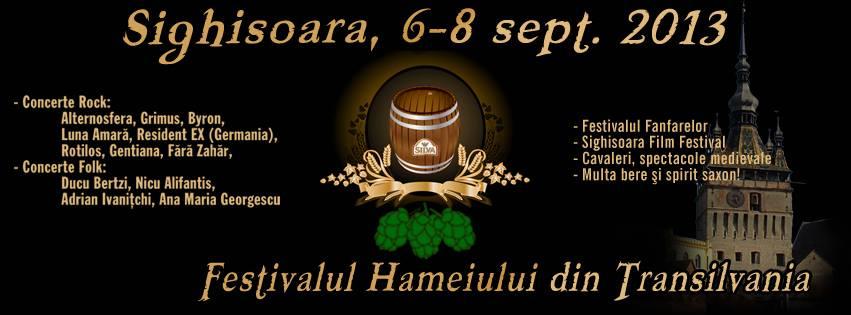 Festivalul hameiului 2013 sighisoara afis
