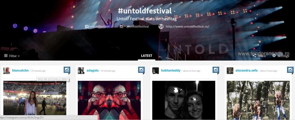 #untoldfestival social media
